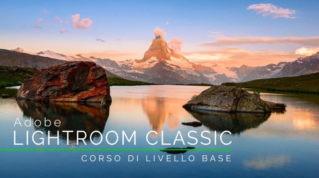 Locandina corso base di Adobe Lightroom Classic