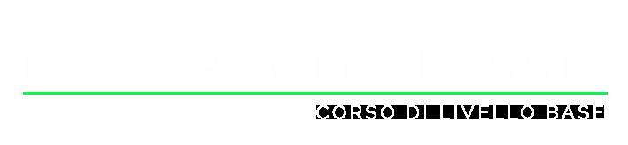Corso base di lightroom classic titolo