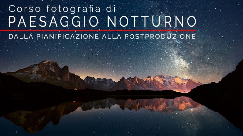 corso di fotografia di paesaggio notturno