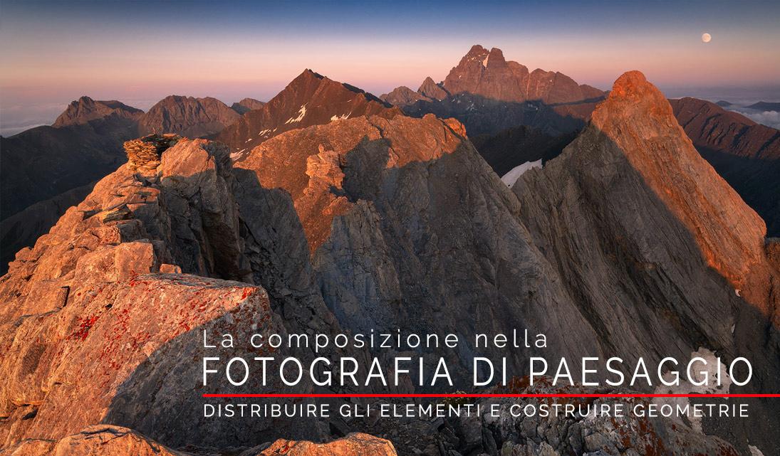 Locandina la composizione nella fotografia di paesaggio webinar