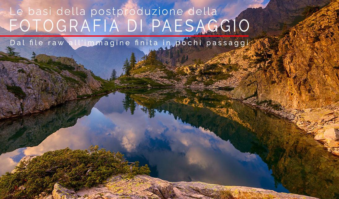 Copertina postproduzione della fotografia di paesaggio